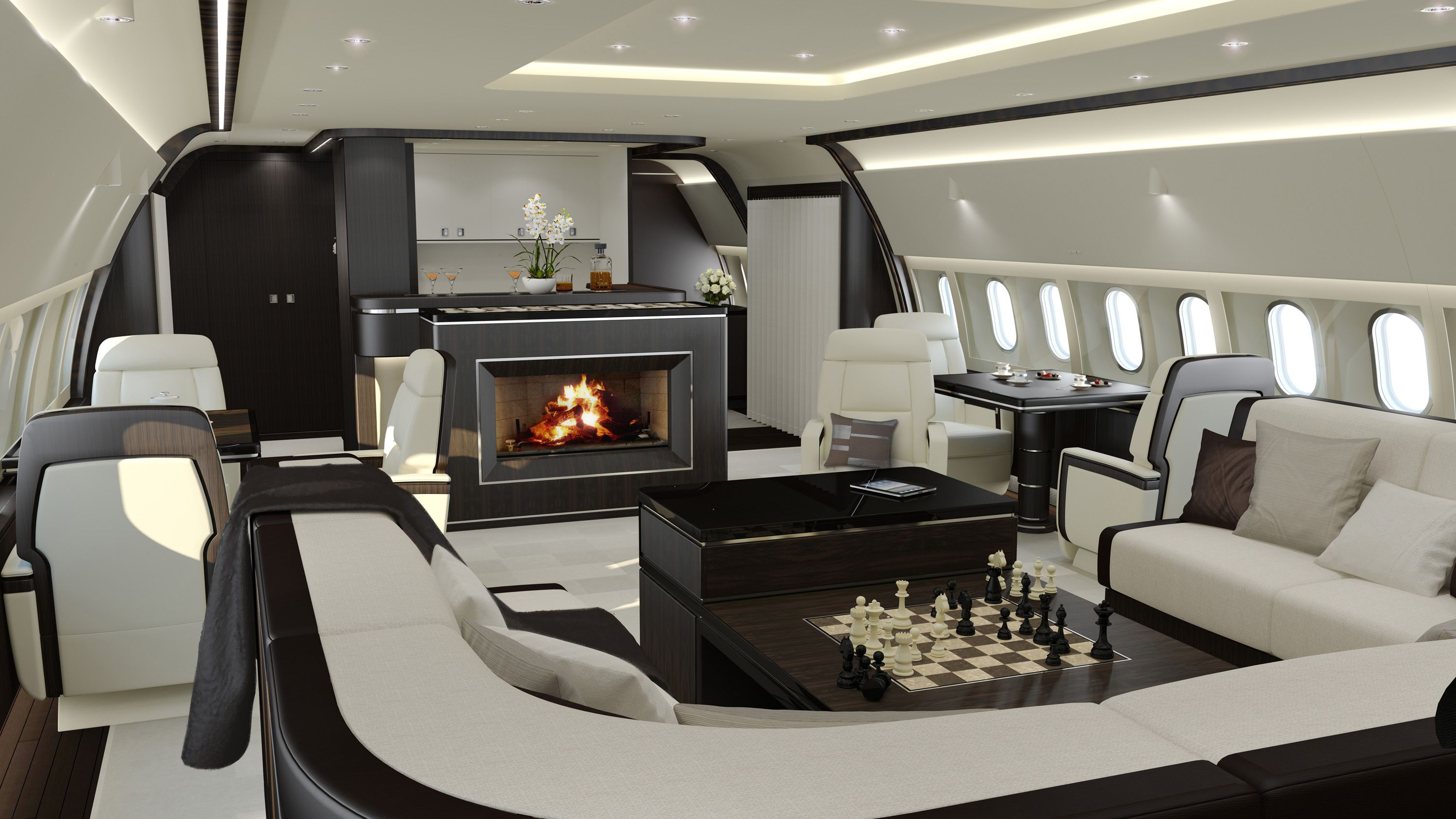 The Jet Aviation Basel Design Studio has created two cabin interior designs  for wide-body