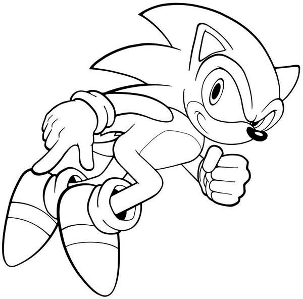Sonic Ready To Run Coloring Page Kids Play Color Coloring Pages Colouring Pages Sonic Birthday Parties