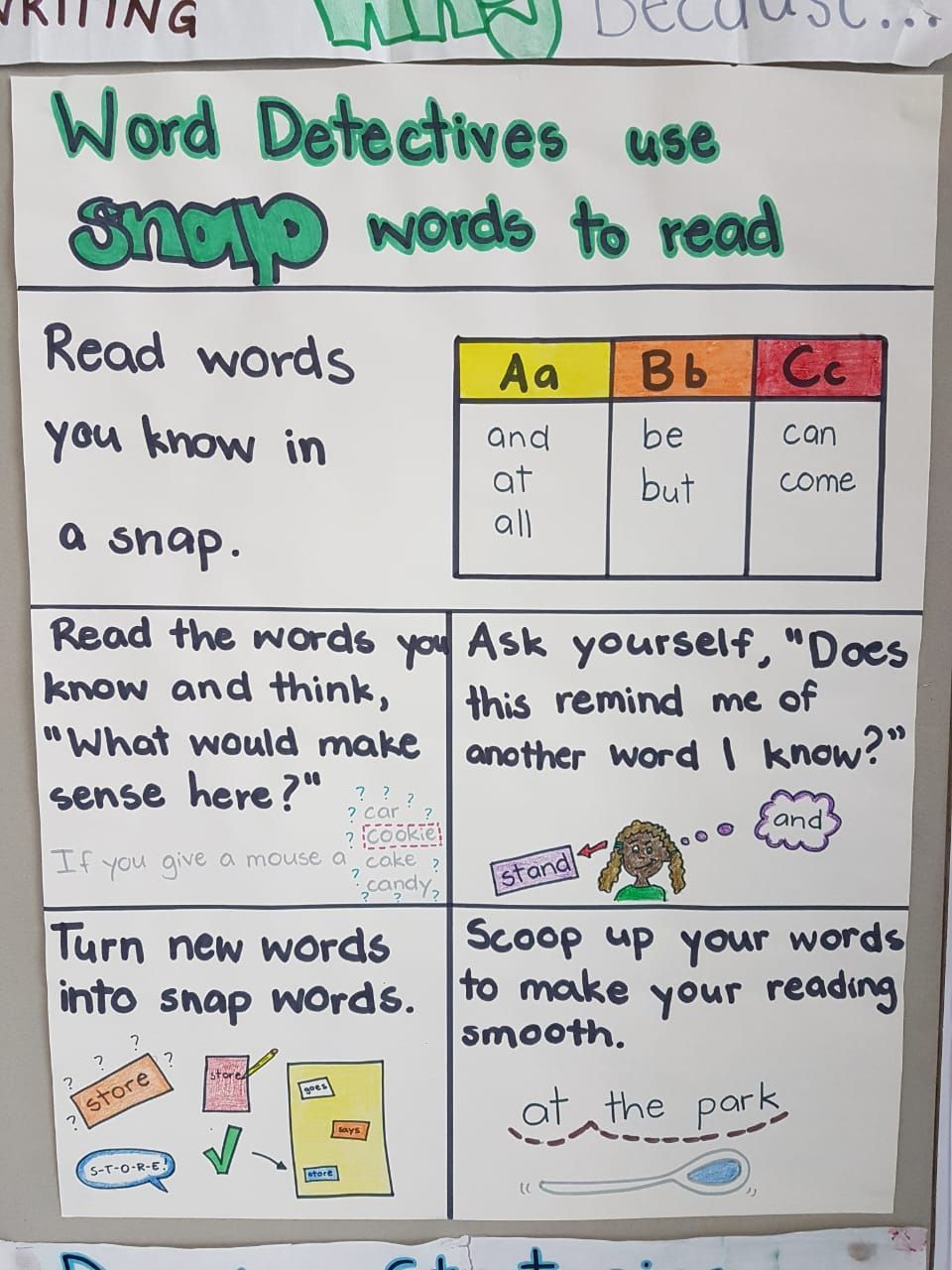 Lucy Calkins Phonics Snap Words