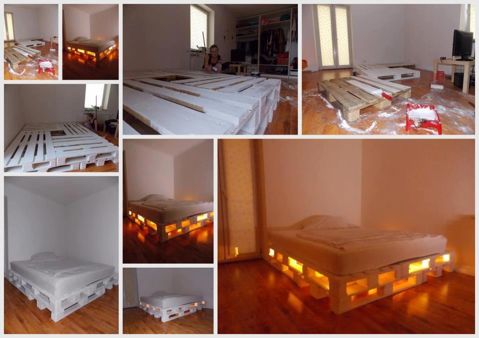 How to Make a Pallet Bed Camas, Madera construccion y Palets - camas con tarimas