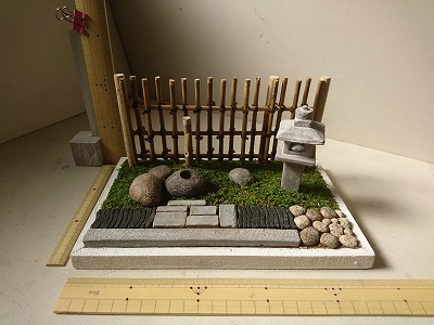 紙粘土で作るミニチュア 1 12 和風庭園 20190326 ハンドメイドマーケット Minne 日本庭園 日本庭園の設計 和風庭園