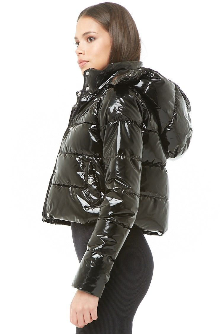 cost charm discount price separation shoes Faux Patent Leather Puffer Jacket | Fashion in 2019 ...