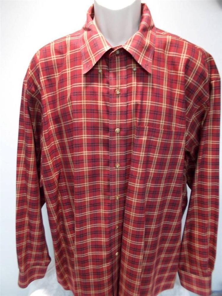 Brooks Brothers 2XL Button Front Mens Long Sleeved Shirt #BrooksBrothers #ButtonFront