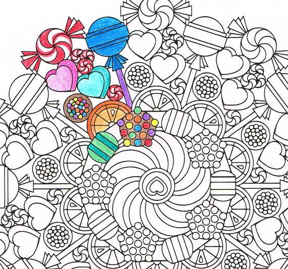 Candy Mandala! Etsy listing at https://www.etsy.com ...