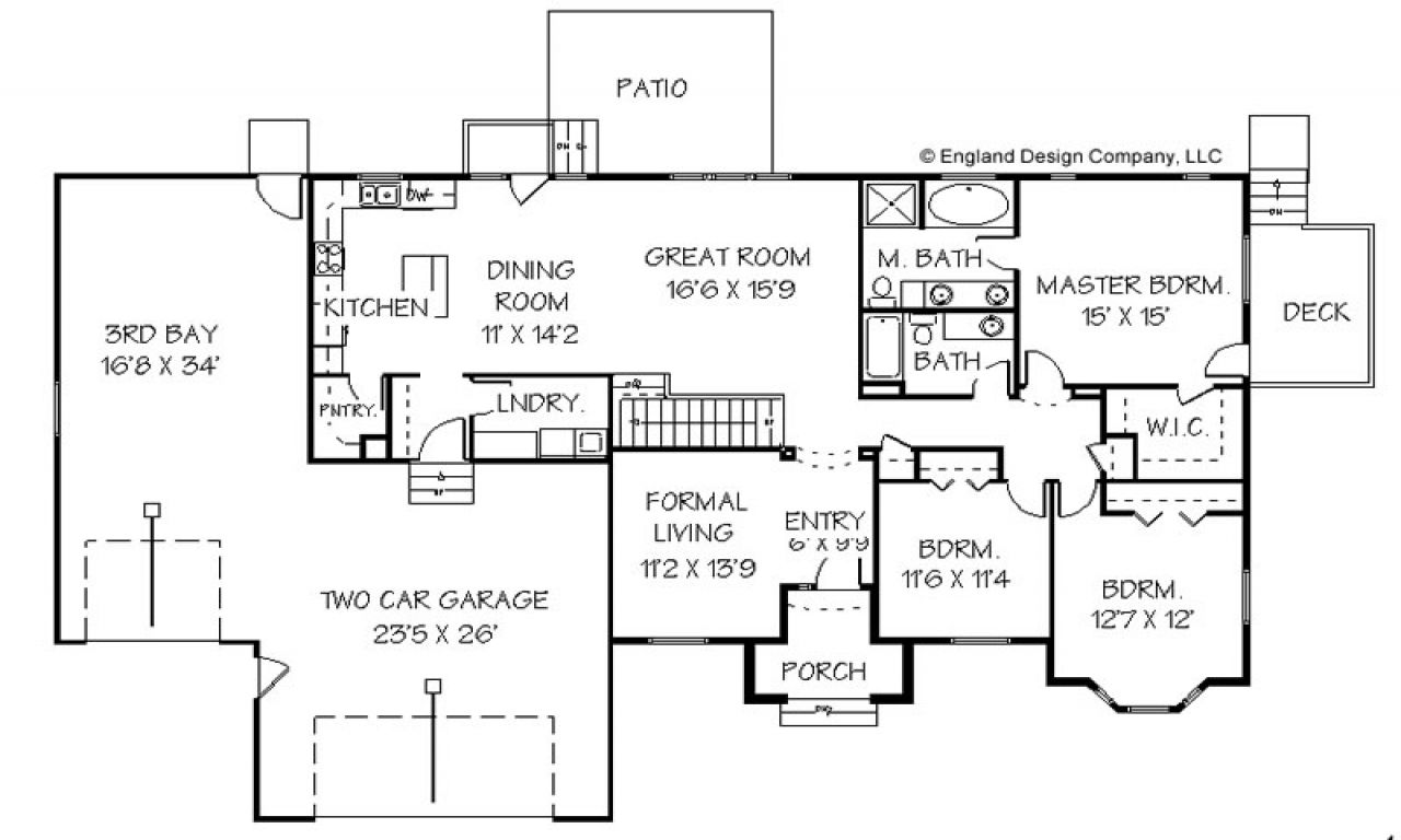 Master Bedroom Addition Plans Home Addition Plans For Ranch Style House Lrg 17b005ca67267f82 Jpg 12 Basement House Plans Home Addition Plans Ranch House Plans