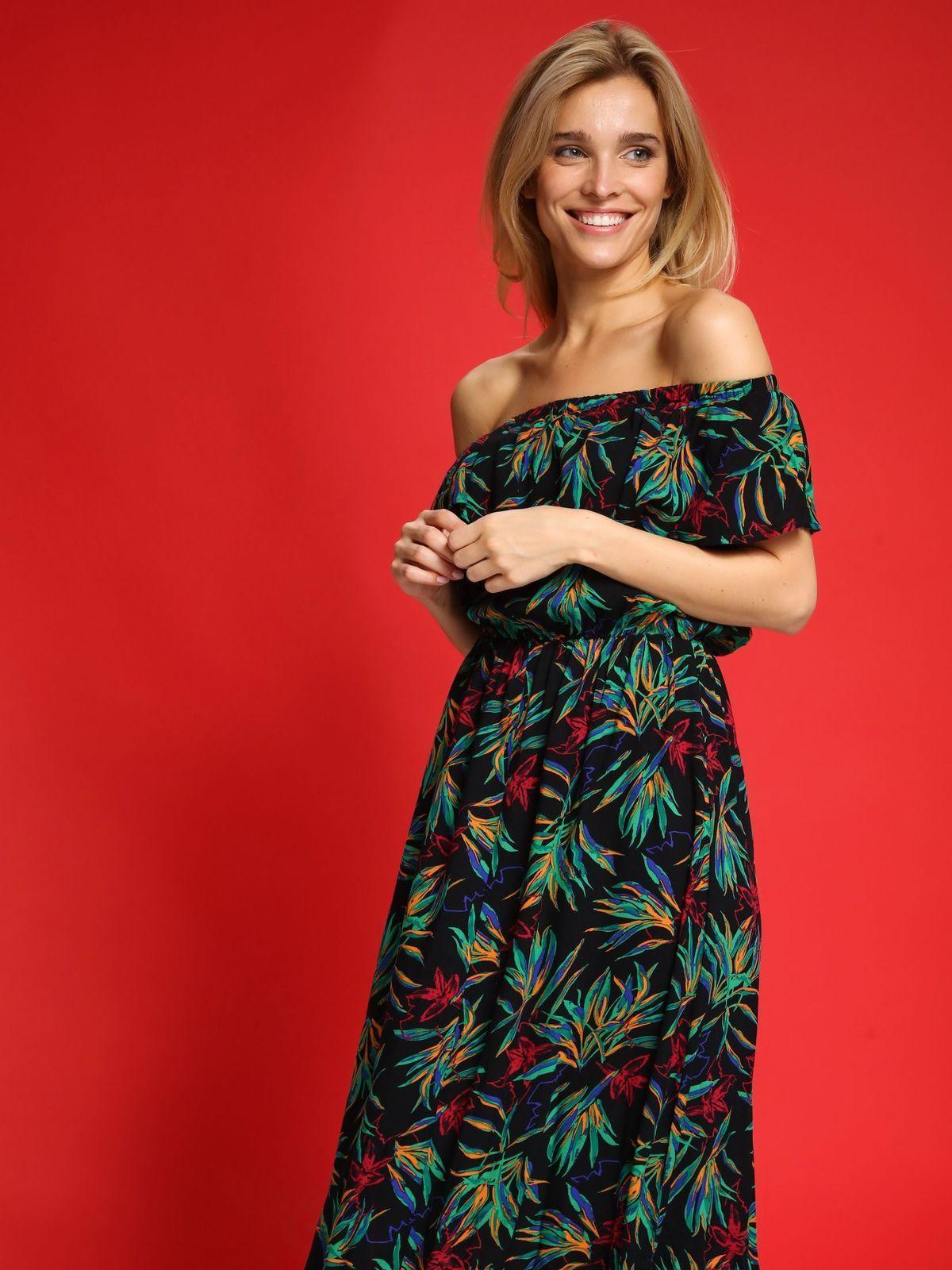 Top Secret Maxi Floral Dress Offshoulder Dluga Sukienka Odkryte Ramiona Falbana Floral Maxi Dress Off Shoulder Dress Dresses