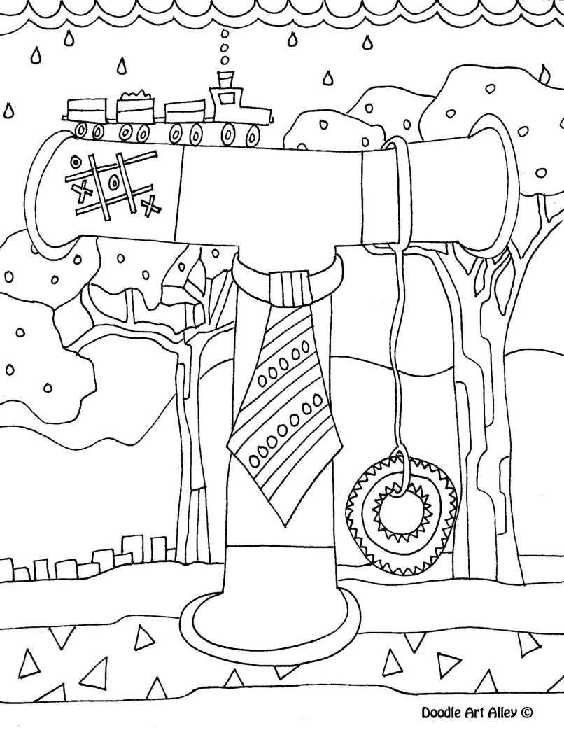 Letter Coloring Pages Doodle Art