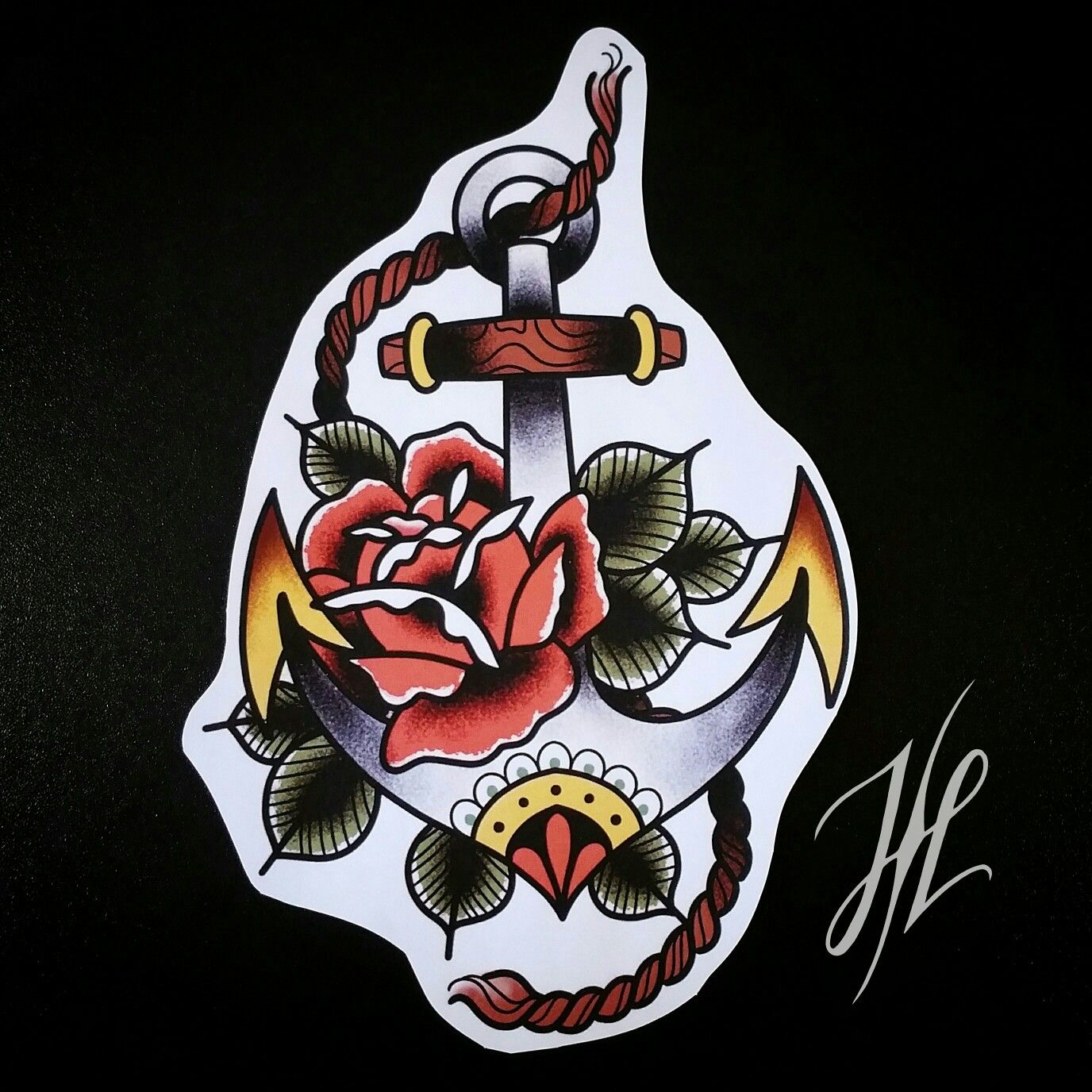 Traditional anchor design by Marjorianne | tattoos ...