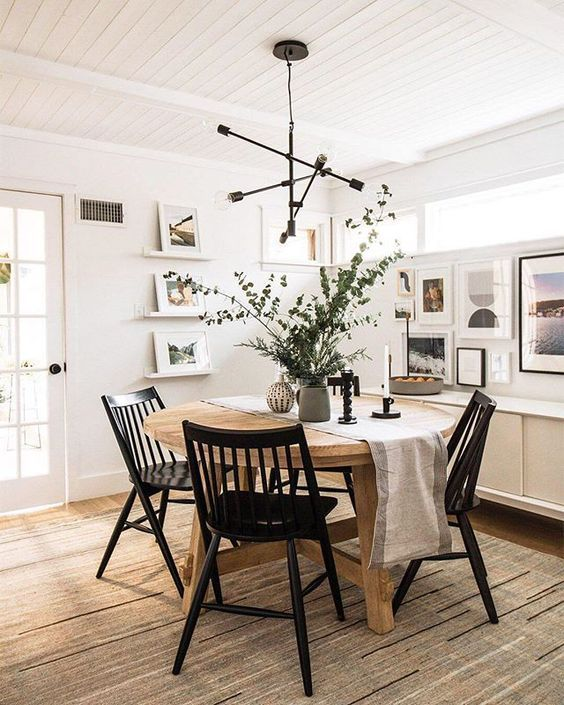 60+ Modern Kitchen Dining Room Design and Decor Ideas #farmhousediningroom