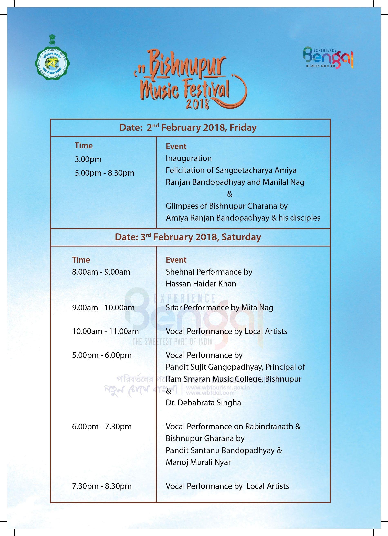 Bishnupur Music Festival 2018 Tourism development