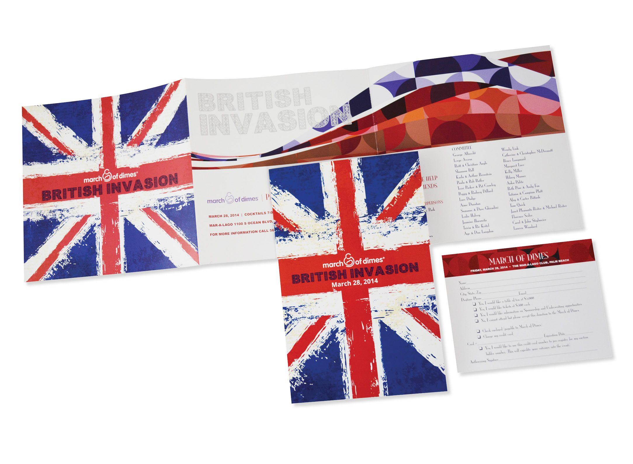 March of Dimes British Invasion invite #design #invitedesign #invite #marchofdimes #british