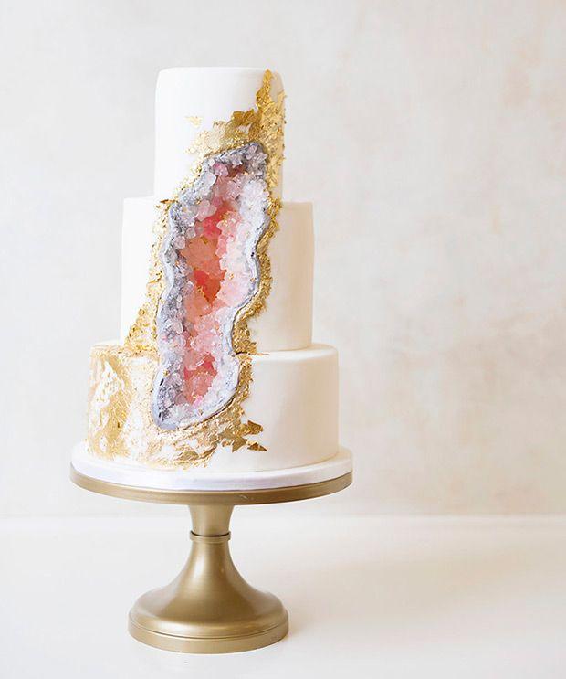 The Viral Cake Trend 13 Statement Geode Wedding Cakes Wedding - Geode Wedding Cake