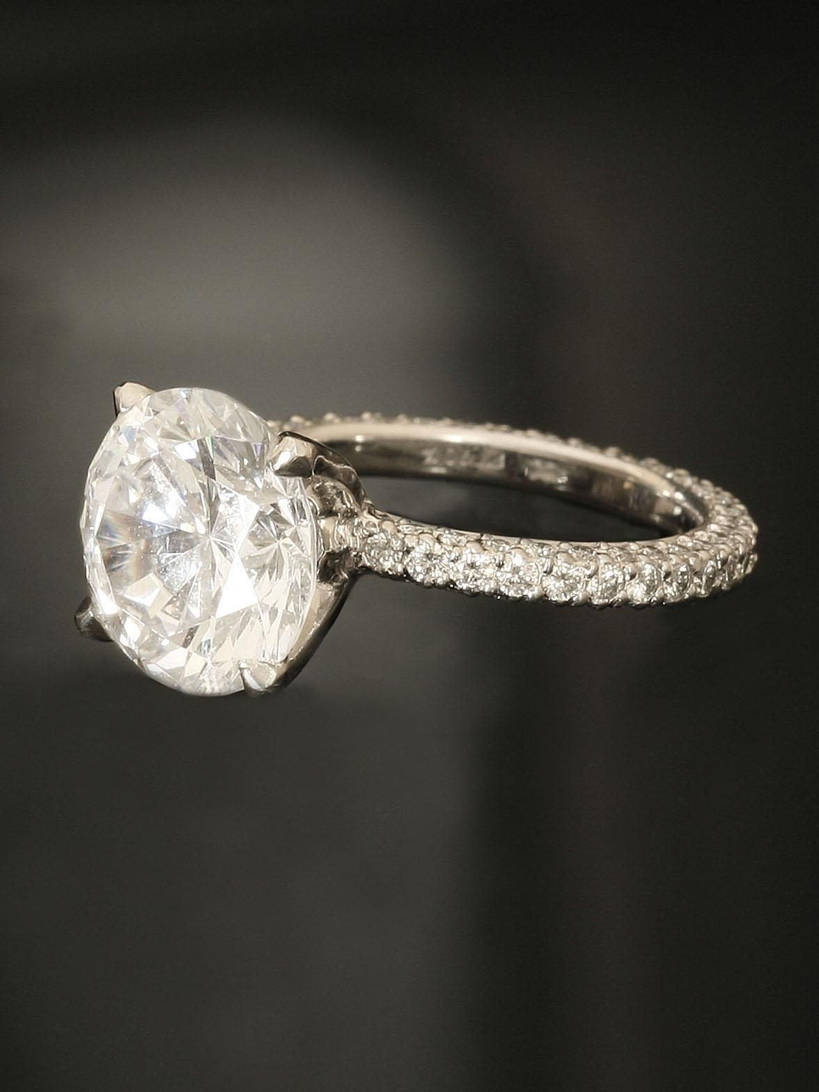 Michael B. Platinum Princess Collection Engagement Ring at London Jewelers!    I found ur ring heidi!!