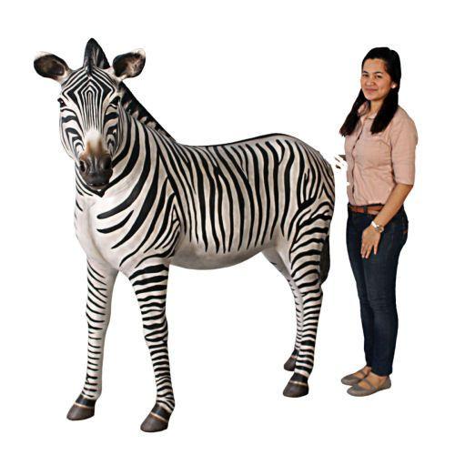 African Zebra Life Size Statue