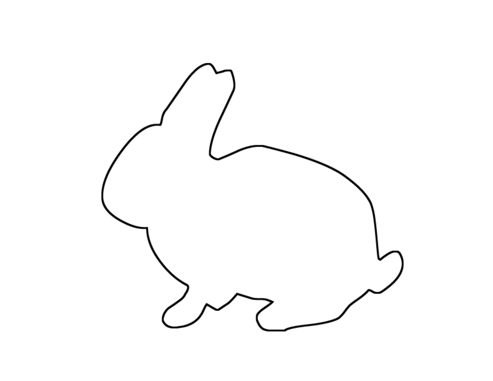 Bunny Outline Printable scope