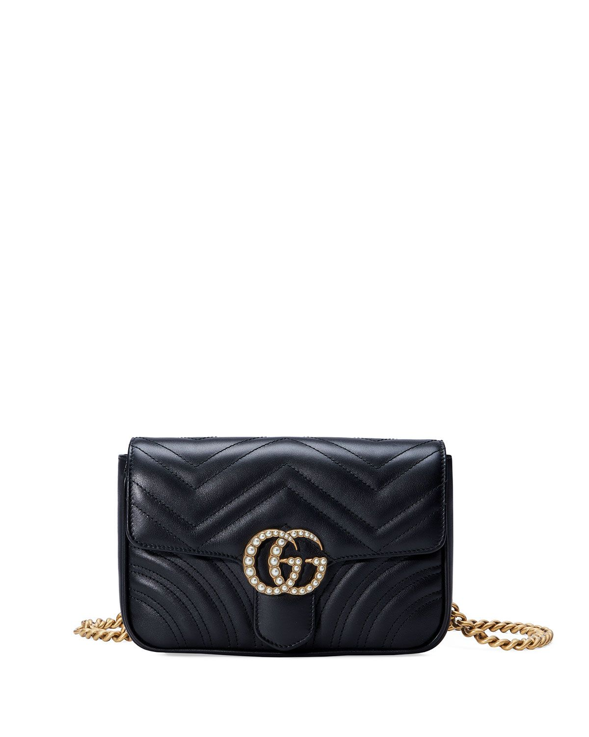 127306f31e77 GG Marmont Matelassé Flap Belt Bag, Black | My style | Gucci ...
