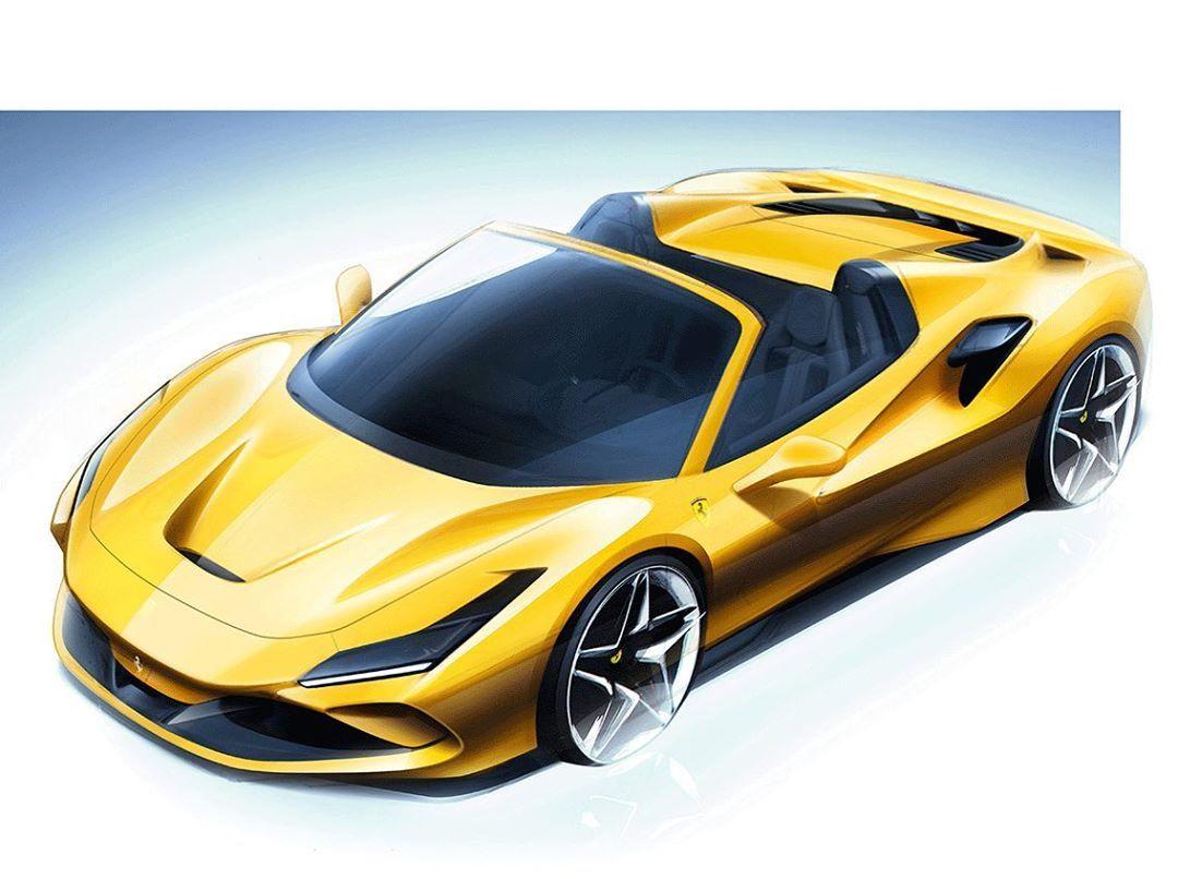 Car Design Sketch On Instagram Ferrari F8 Spider Official Sketch