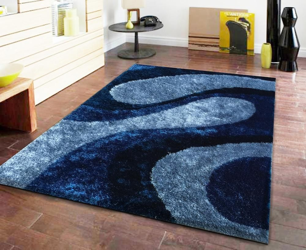 Navy Blue Area Rug 5x7 Shag Area Rug Teal Blue Bedroom Blue Shag Rug