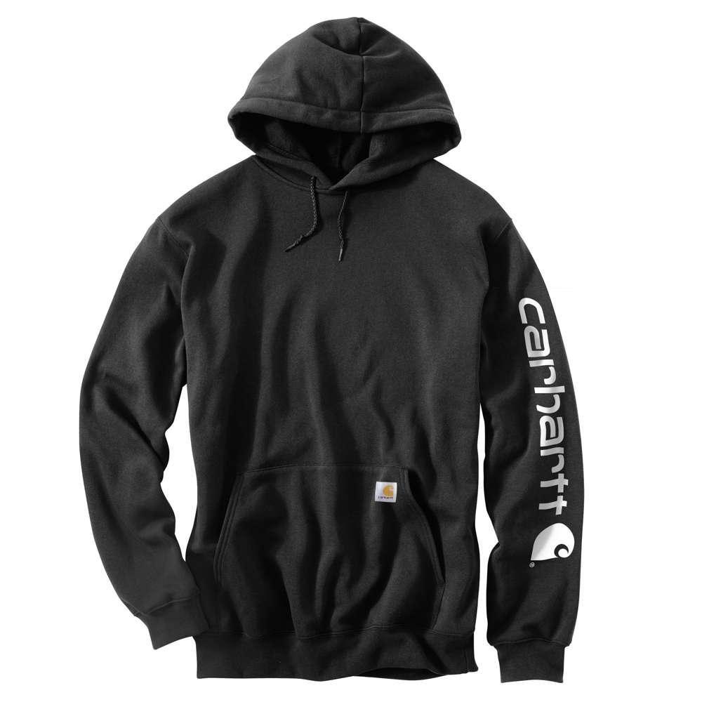 Carhartt Men S Regular Large Black Cotton Polyester Sweats K288 Blk The Home Depot Carhartt Mens Hoodies Men Pullover Hooded Sweatshirt Men [ 1000 x 1000 Pixel ]