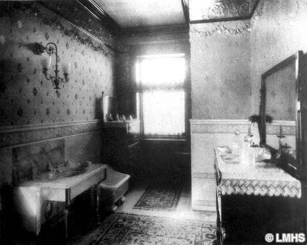 A Period Photo Taken Of The Bathroom In A House Built In 1842
