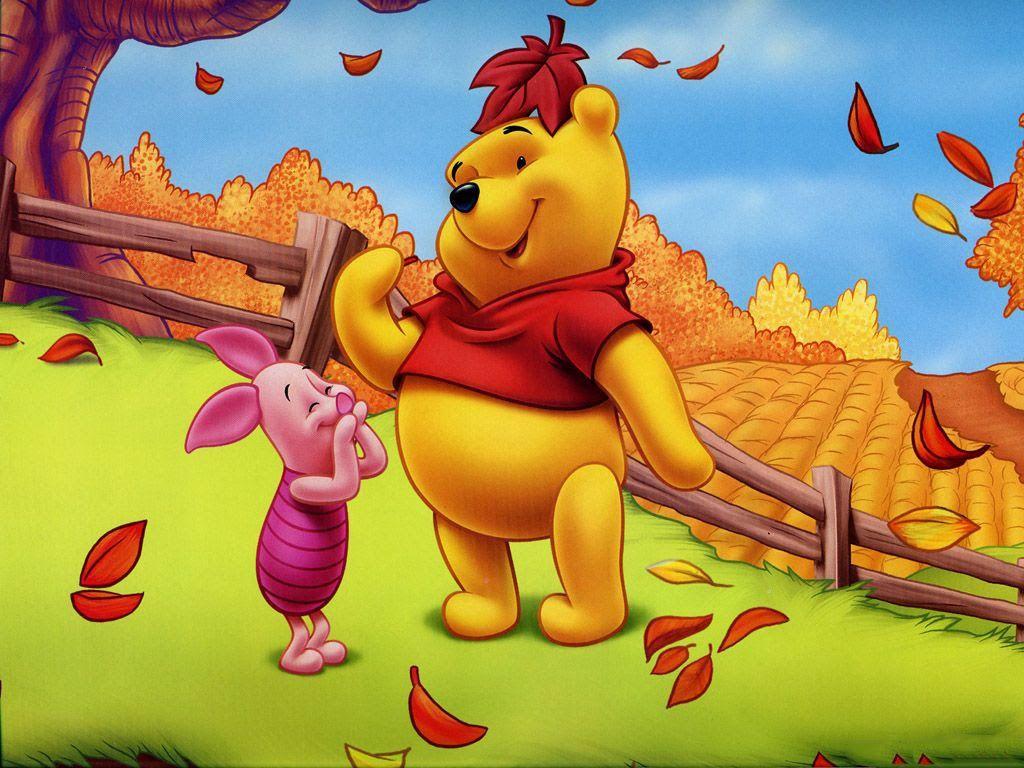Осень с персонажами картинки