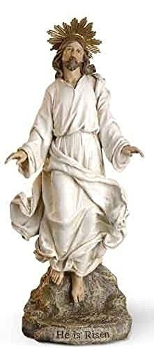 12 risen christ jesus statue figurine resurrection not j https he is risen jesus christ statue stone mix easter gift josephs studio collectible negle Gallery