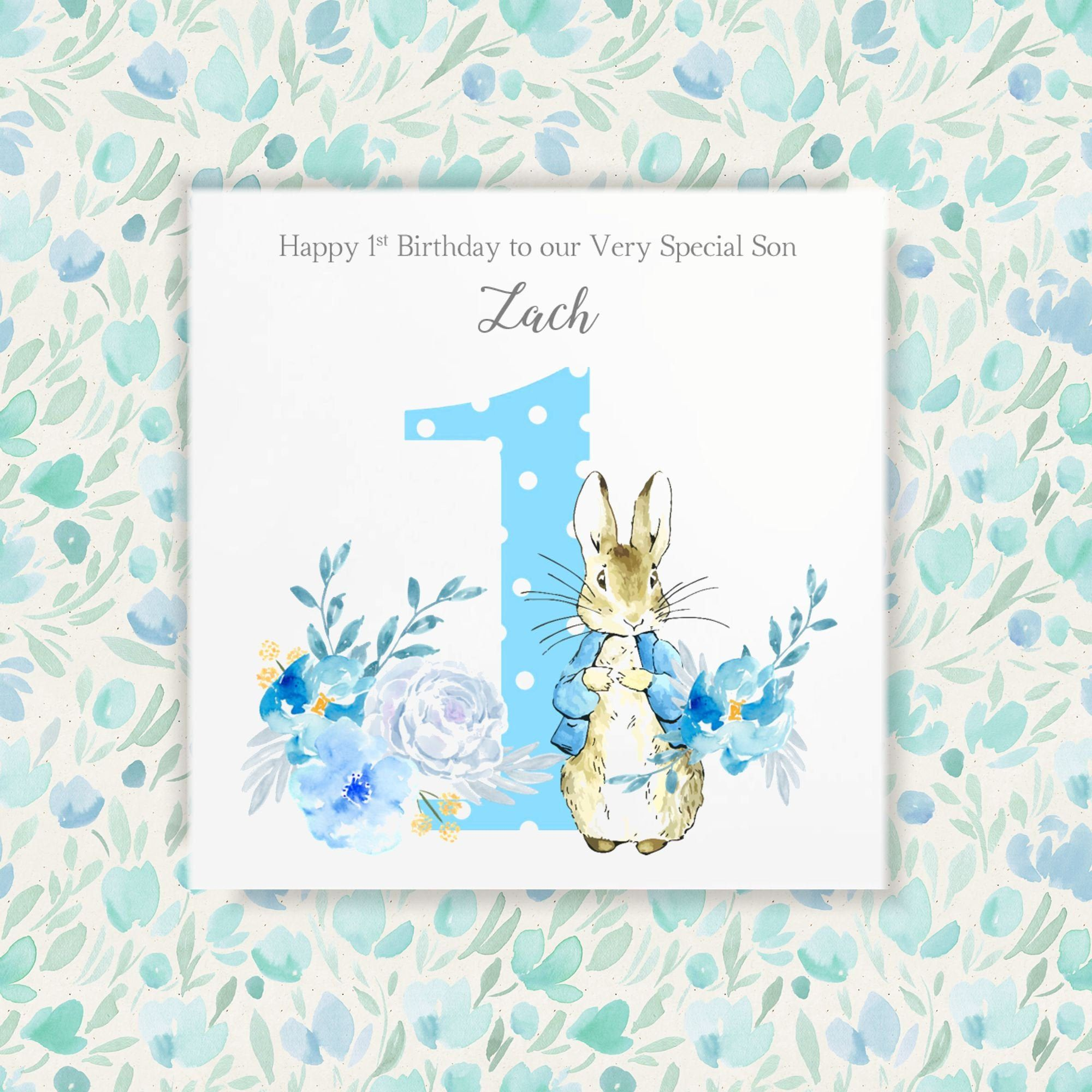 Personalised 5st birthday card first birthday card peter  Etsy in