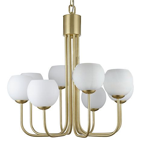 Buy john lewis levin 8 bulb ceiling light brass opal online at buy john lewis levin 8 bulb ceiling light brass opal online at johnlewis mozeypictures Image collections