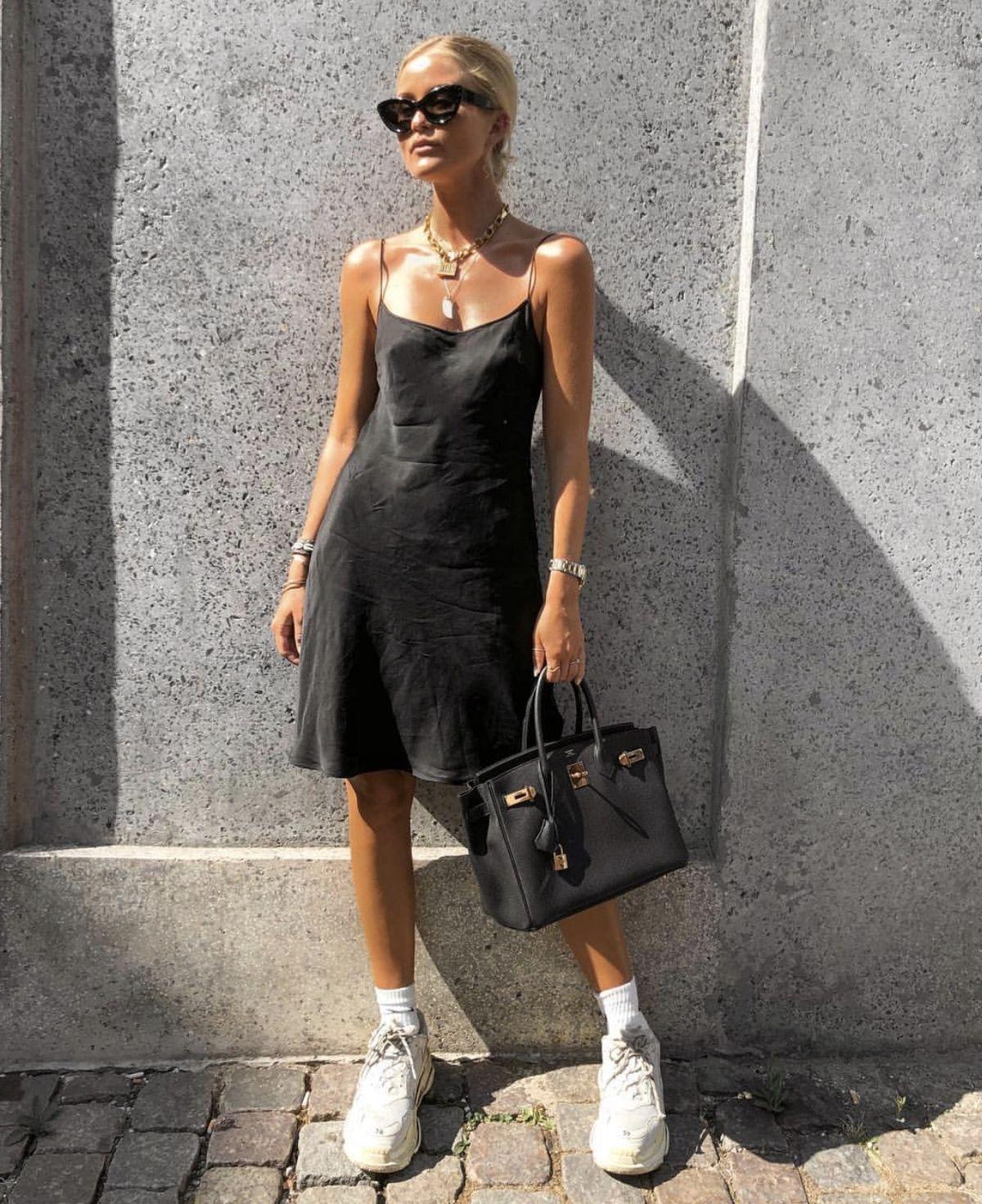 Pin By Mimi Mimic On Style Fashion Black Slip Dress Fashion Outfits [ 1472 x 1200 Pixel ]