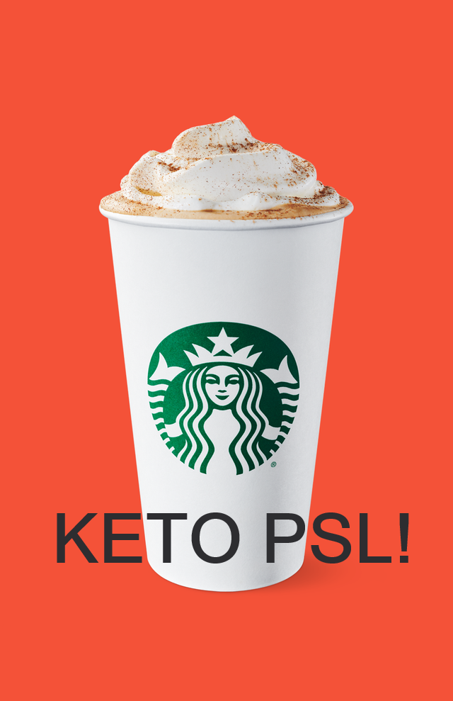 Keto Starbucks PSL hack (With images) Low carb starbucks