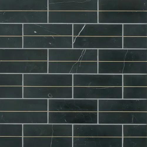 Ferrara 3 X 6 Decorative Tile In Nero Decorative Tile Tiles Stone Decor