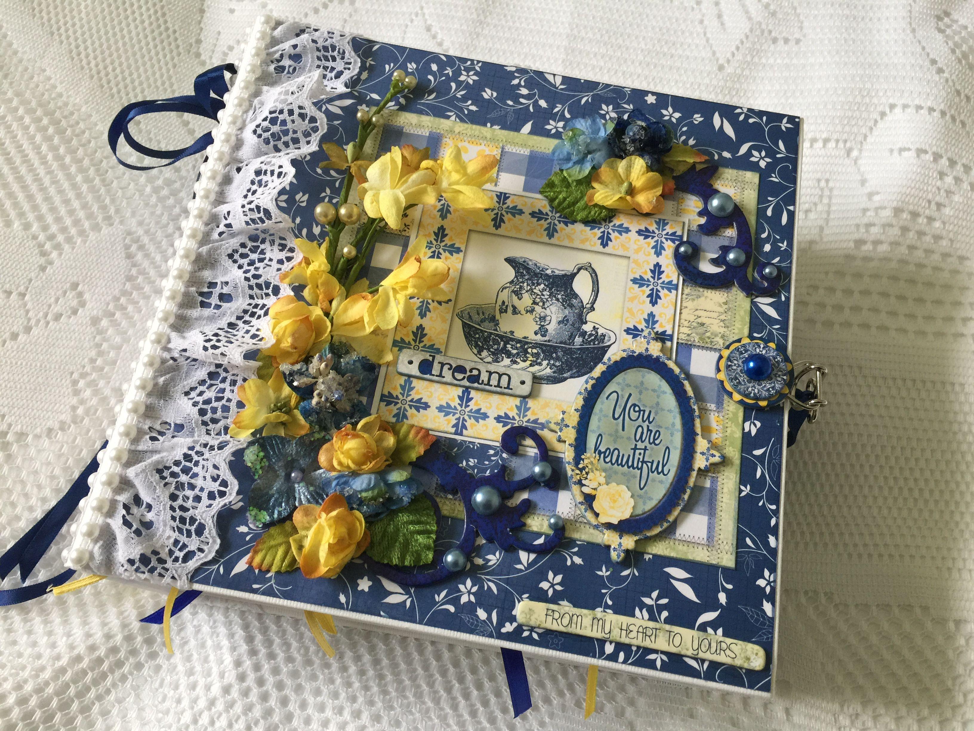 "Mini Album~ Bo Bunny ""Genevieve"" More pics and a video on my blog cherylspapercreations.com"