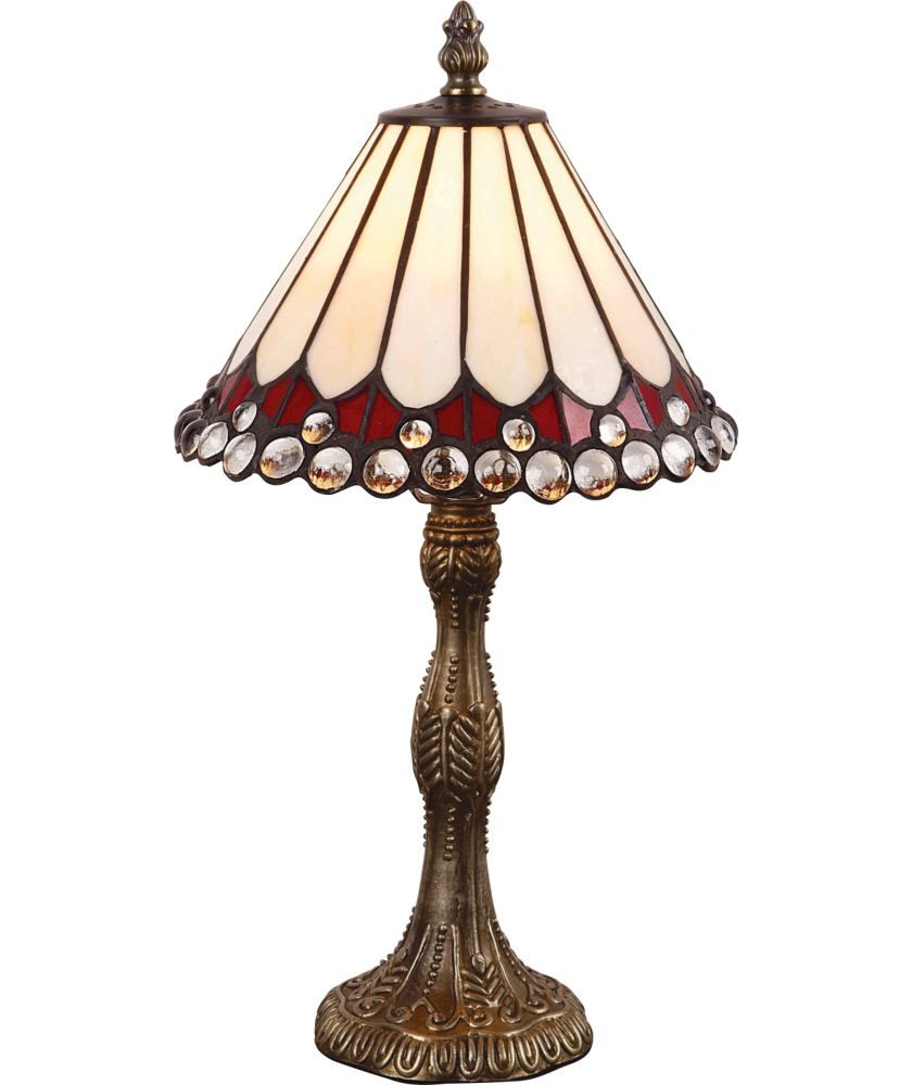 Buy tiffany style jewel table lamp cream at argos your buy tiffany style jewel table lamp cream at argos your geotapseo Choice Image