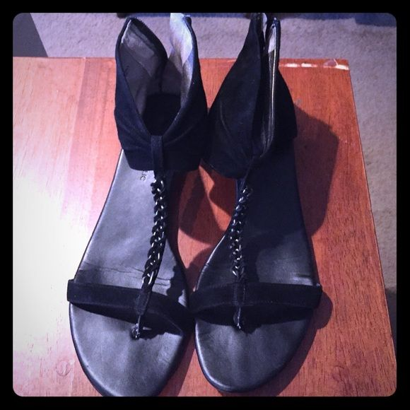 Banana Republic suede sandals! So cute!zips in back! Bought from another posher and love but have too many sandals. Banana Republic Shoes Sandals