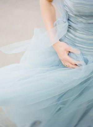 baby blue tulle skirt detail.