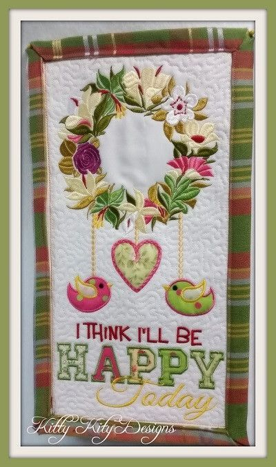 Be Happy Wall Hanging 5x7   Pixies Rule