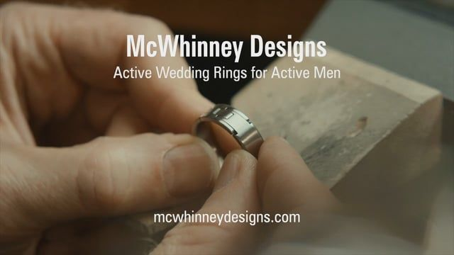 McWhinney Designs Active Hinged Wedding Rings are highly engineered
