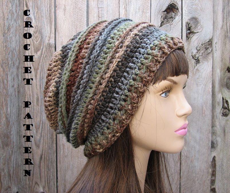 CROCHET PATTERN!!! Crochet Hat - Slouchy Hat, Crochet Pattern PDF ...