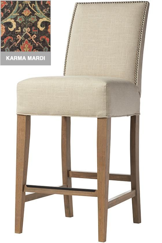 Better priced bar stools with lots of custom fabrics Custom