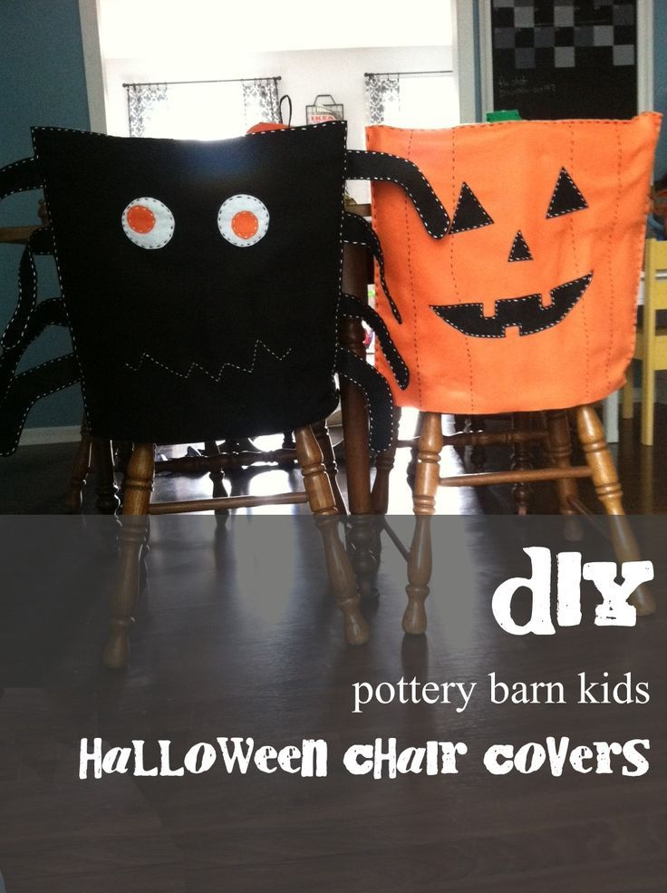 Diy Pottery Barn Inspired Halloween Chair Covers Pottery