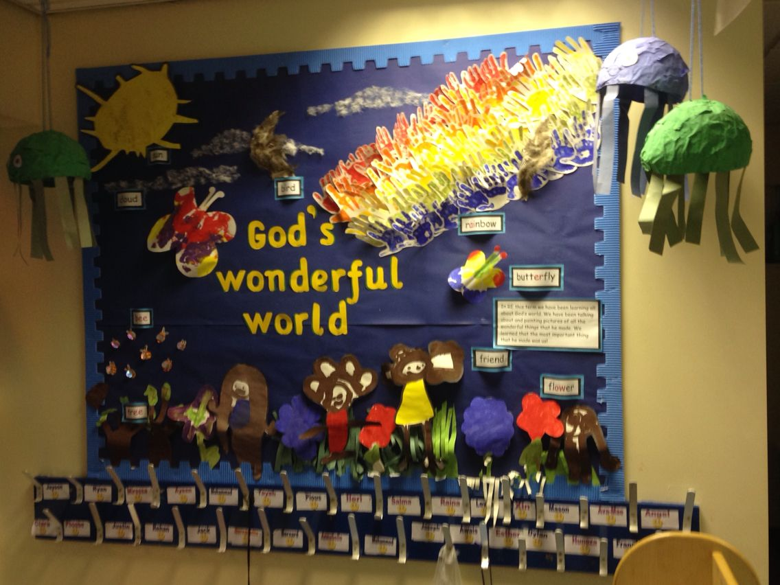 Gods Wonderful World Display Board Wonders Of The World