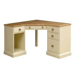 Dorchester Pine Corner Computer Desk M249 With Free Delivery The Cotswold Company