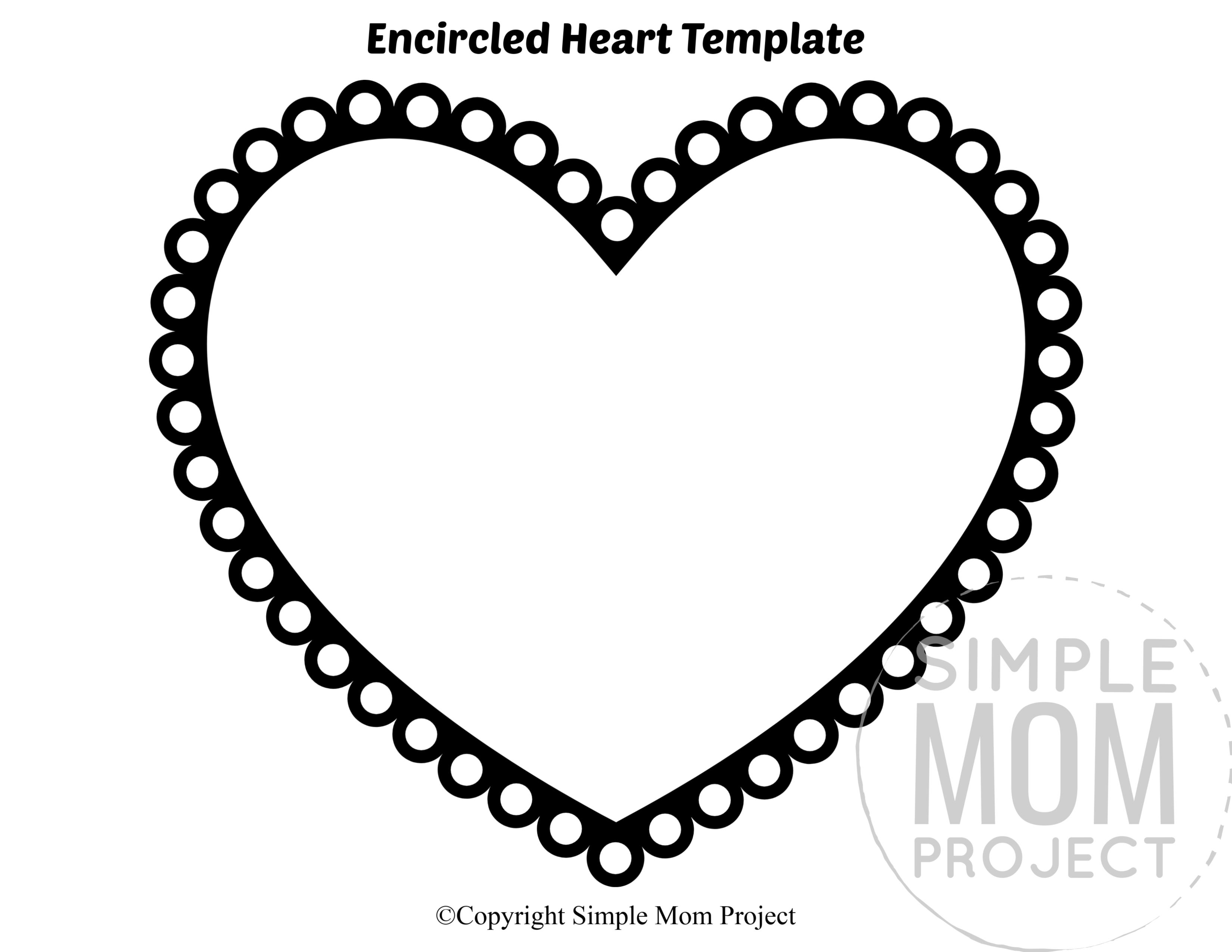 Free Printable Large Heart Shape Templates Simple Mom Project Heart Shapes Template Heart Template Printable Heart Template