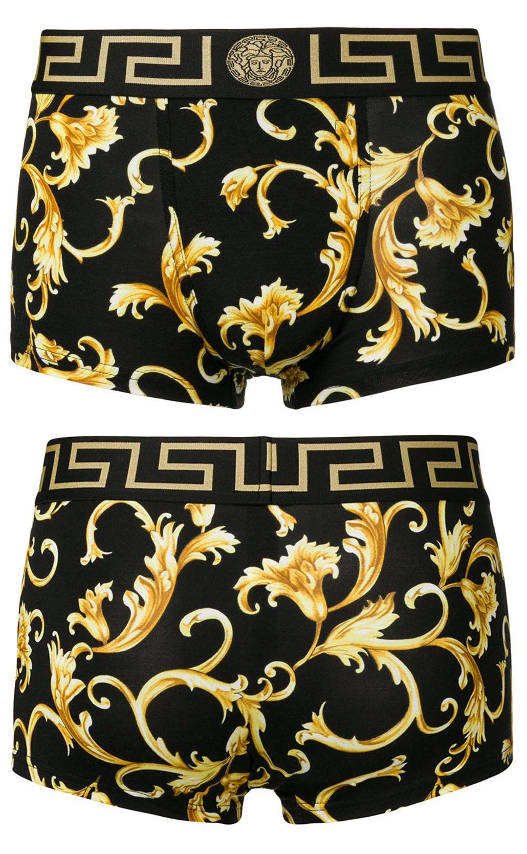 02efb0300c4 Versace baroque print boxer shorts | Menswear in 2019 | Versace ...