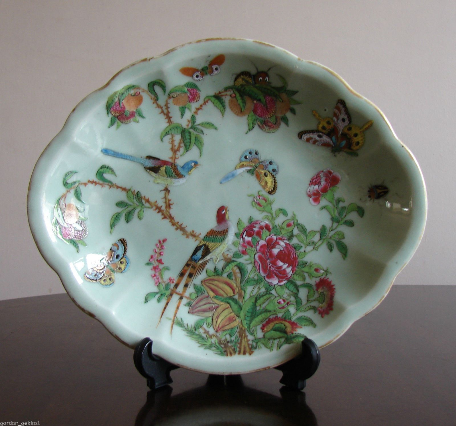 Great old Chinese Famille Rose plate 1 of 7 5 1//2/""