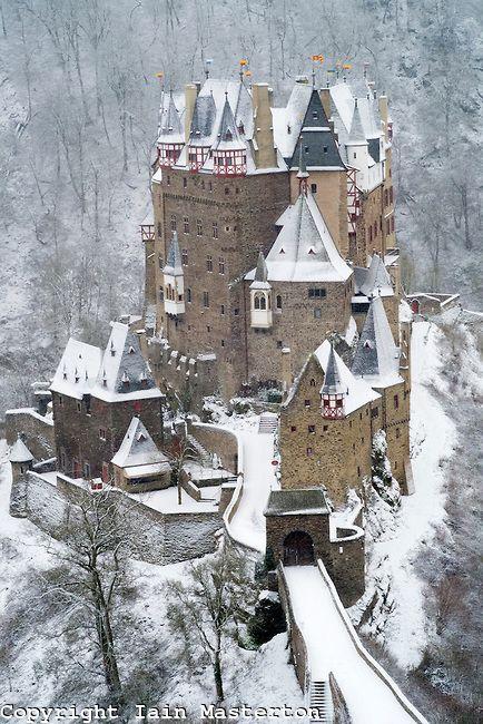 View Of Burg Eltz Castle In Winter Snow In Germany Burg Eltz Castle Germany Castles Castle