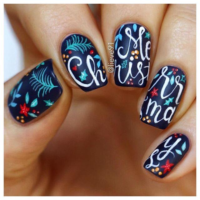 Here They Are My Merry Christmas Nails I Hohohope You Like