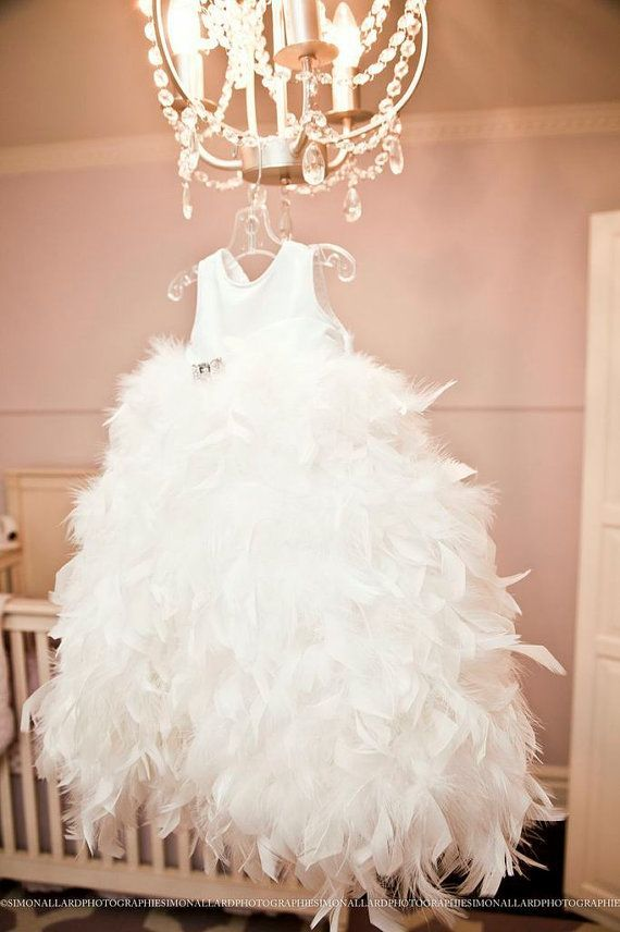 Christening feather dress dress,Baptism dress,Dedication gown ...
