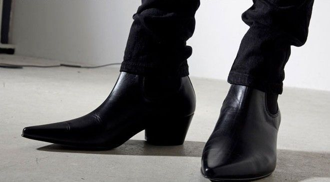 2014 High Quality Men Cuban Heel Winklepicker Fashion