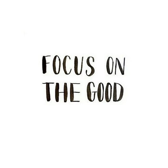 There are SO many bad things you can focus on when it